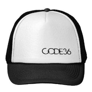 CODE36 Black White Cap Mesh Hat