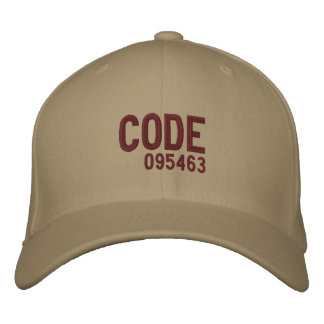 CODE, 095463 EMBROIDERED HATS