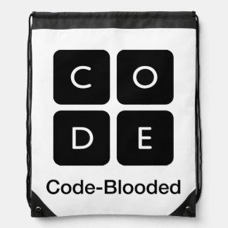 Code-Blooded Drawstring Bag