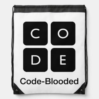 Code-Blooded Drawstring Backpack