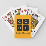 "Code-Blooded Playing Cards<br><div class=""desc"">Show your support for Code.org. Personalize your Code.org merchandise on Zazzle.com! Click the Customize button to insert your own text or to change the background color. Zazzle&#39;s easy to customize products have no minimum order &amp; is custom made after you order.</div>"
