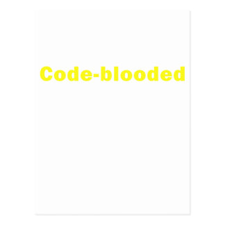 Code Blooded Postcard