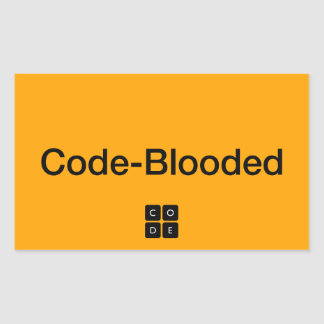 Code-Blooded Rectangle Sticker