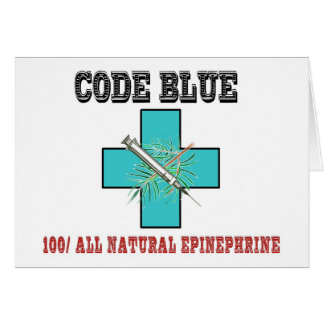 Code Blue 100% All Natural Epinephrine Card