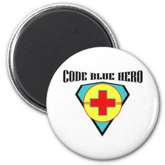 Code Blue Hero 2 Inch Round Magnet