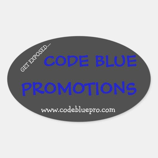 Code Blue Sticker