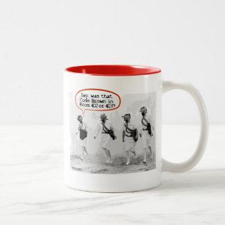 Code Brown for Nurses Two-Tone Coffee Mug