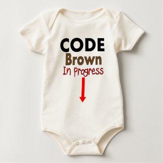 Code Brown IN PROGRESS Kids T-Shirts