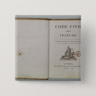 Code Civil, open at the titlepage, 1804 Button