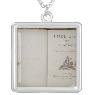 Code Civil, open at the titlepage, 1804 Necklaces