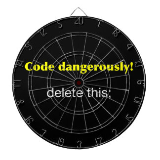Code Dangerously Dartboard With Darts