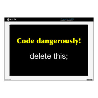 Code Dangerously Decal For Laptop