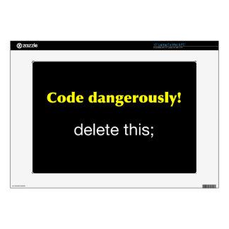 Code Dangerously Laptop Skins