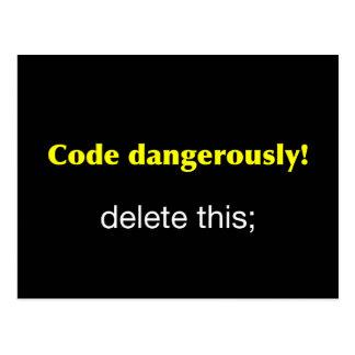 Code Dangerously Postcard