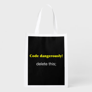 Code Dangerously! Reusable Grocery Bags