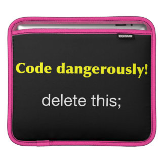 Code Dangerously Sleeve For iPads