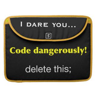 Code Dangerously! Sleeve For MacBooks