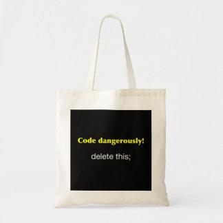 Code Dangerously Tote Bag