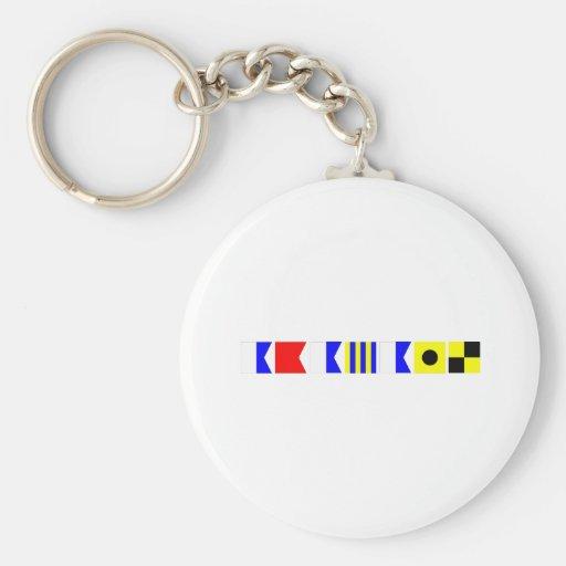 Code Flag Abagail Keychain