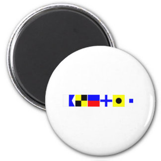 Code Flag Alexis 2 Inch Round Magnet