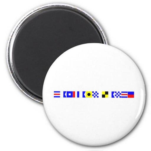 code flag captain lance 2 inch round magnet