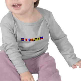 Code Flag Charlie Tee Shirts