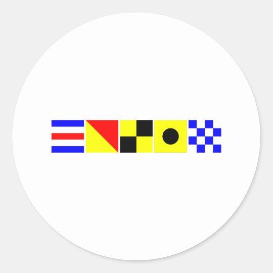 Code Flag Colin Classic Round Sticker
