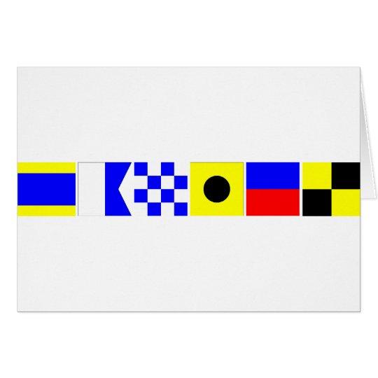 Code Flag Daniel Card
