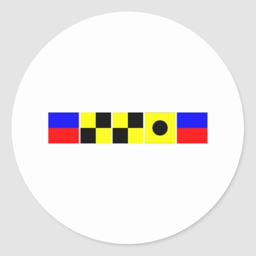 Code Flag Ellie Classic Round Sticker
