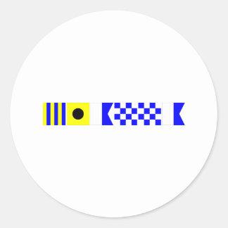 Code Flag Gianna Classic Round Sticker