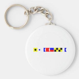 Code Flag Isabella Keychain