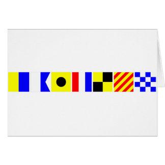 Code Flag Kaitlyn Card