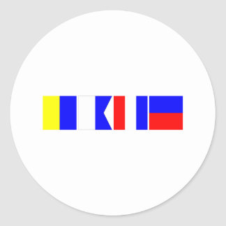 Code Flag Kate Classic Round Sticker