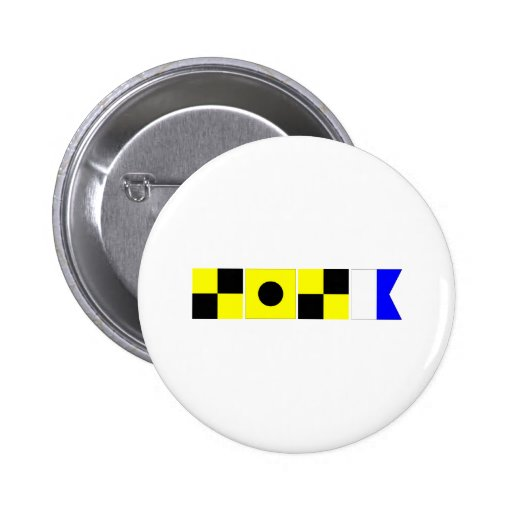 Code Flag Lila 2 Inch Round Button