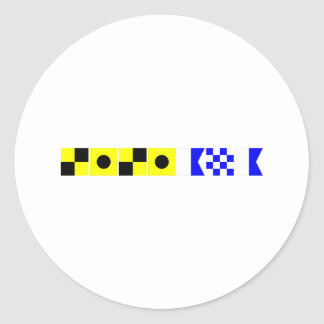 Code Flag Liliana Classic Round Sticker