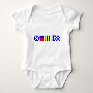 Code Flag Megan Baby Bodysuit