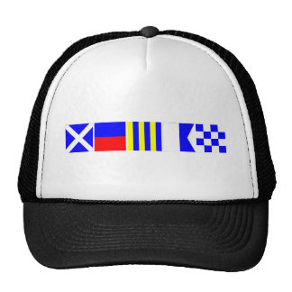 Code Flag Megan Trucker Hat