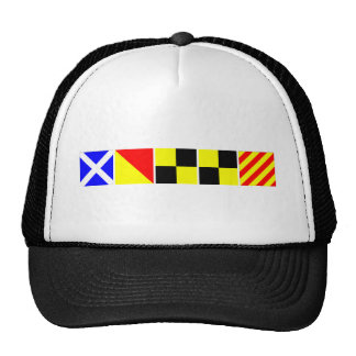 Code Flag Molly Trucker Hat