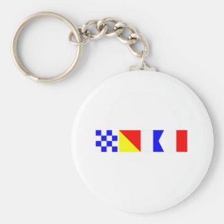 Code Flag Noah Keychain