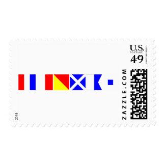Code Flag Thomas Postage