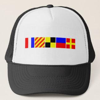 Code Flag Tyler Trucker Hat