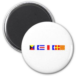 Code Flag Zachary 2 Inch Round Magnet