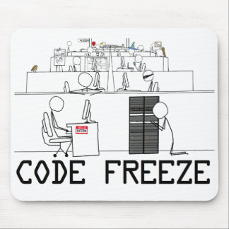 Code Freeze Mouse Pad