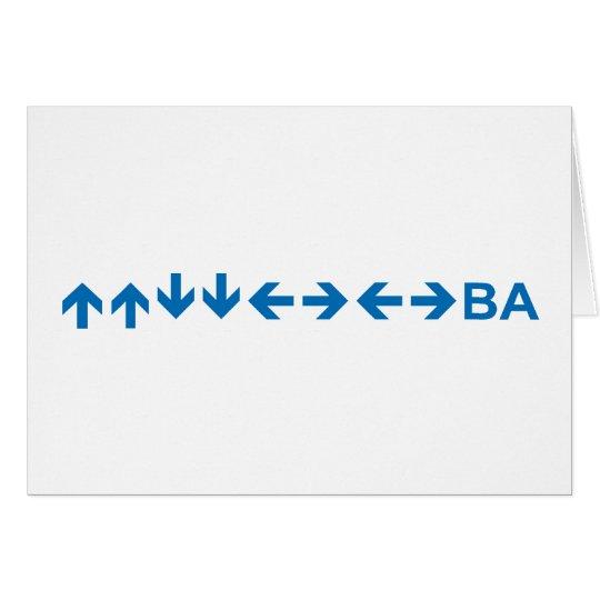 Code in Dark Blue Card