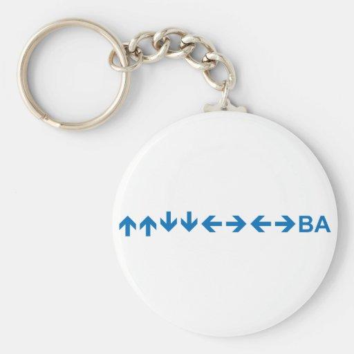 Code in Dark Blue Keychain