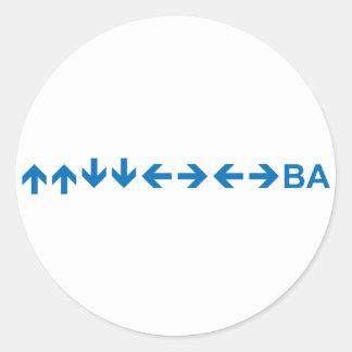 Code in Dark Blue Stickers