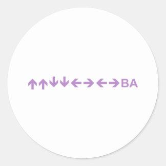 Code in Purple Round Stickers