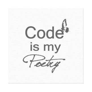 Code is my Poetry with butterfly Canvas Print