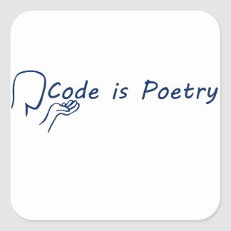 Code is Poetry Square Sticker