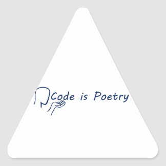 Code is Poetry Triangle Sticker